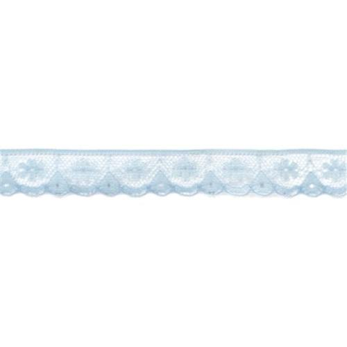 American Crafts 482379 Ribbon . 625 inch -Lace-Lagoon