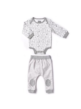 Newborn Baby Boy or Girl Unisex Bodysuit & Pant 2pc Set