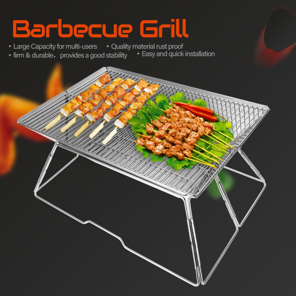 Portable Folding Barbecue BBQ Charcoal Grill Shelf Rack for Outdoor Camping Picnic, Barbecue Grill, Charcoal Grill