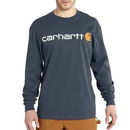 Carhartt Jersey Henley (Carhartt Men's Signature Logo Jersey Long Sleeve T Shirt Graphic, Bluestone, 2X-Large )