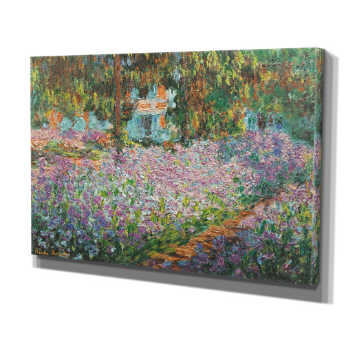 Wexford Home 'Irises in Garden' by Claude Monet Painting Print on Wrapped Canvas