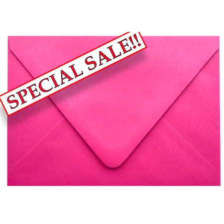 SPECIAL SALE! Fuchsia Contour Euro Flap 50 Boxed A7-70lb Envelopes (5-1/4 x 7-1/4) for 5 x 7 Invitations Announcements Weddings Showers Communions Confirmations by The Envelope Gallery