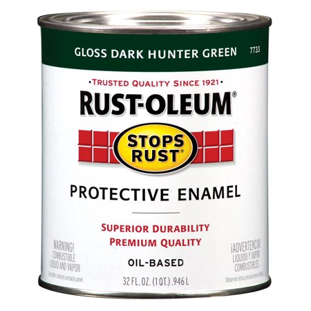 RUST-OLEUM 7733502 1 qt. Dark Hunter Green Glossy Solvent Enamel