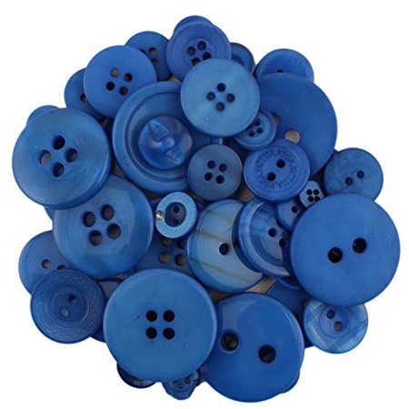 BUTTONS GALORE BIG BAG OF COLORFUL CRAFT & SEWING BUTTONS 5.5 OZ (APPROX 225 PCS) BLUEBERRY