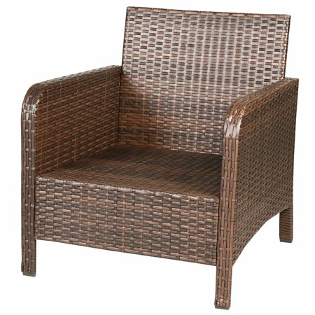 Gymax 5 PC Patio Set Sectional Rattan Wicker Furniture Set Home Outdoor - image 8 of 10