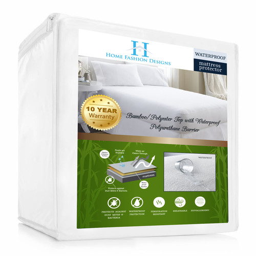 Click here to buy Home Fashion Designs Aleena Deep Pocket Fitted Hypoallergenic Waterproof Mattress... by Home Fashion Designs.