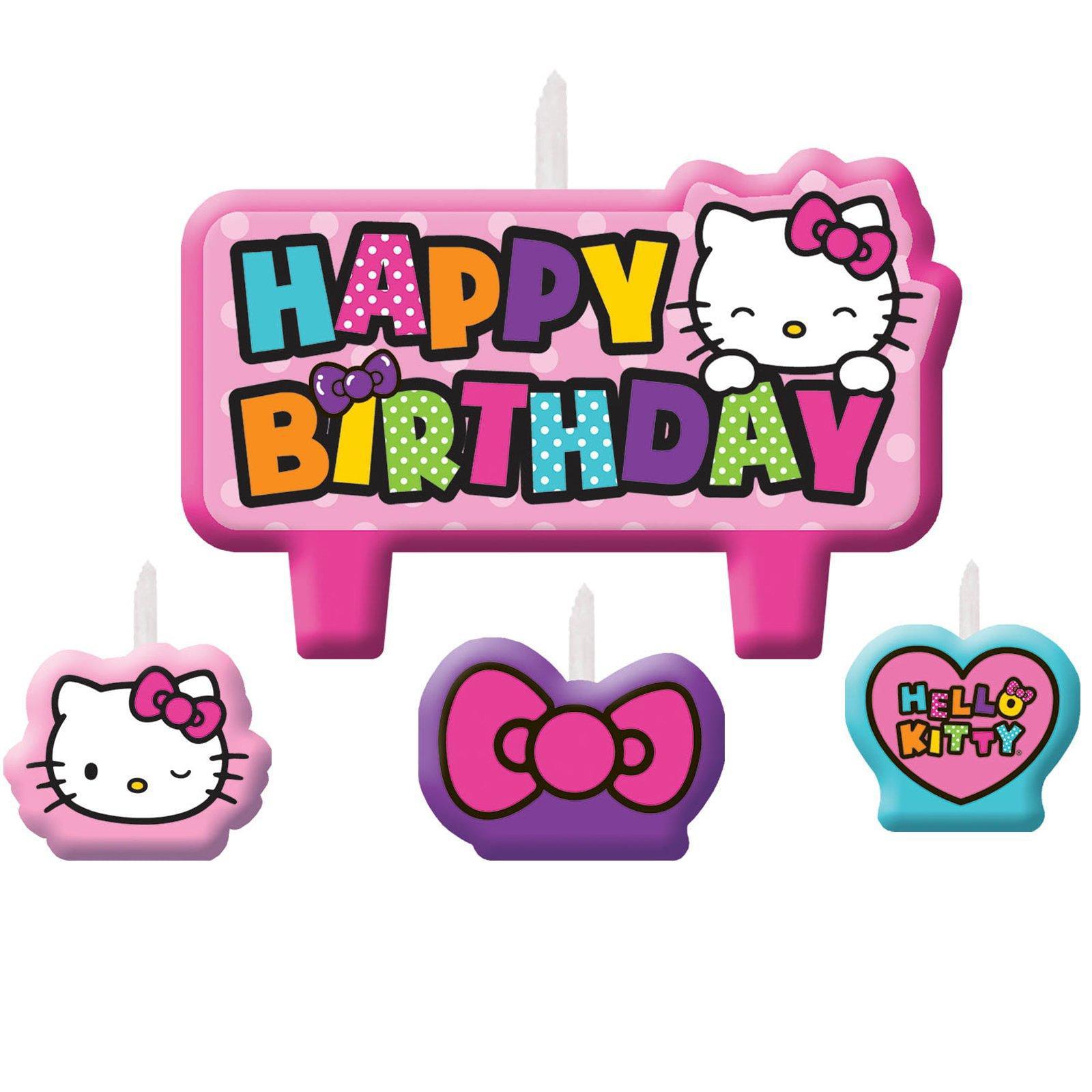 hello kitty rainbow birthday candle set walmart com