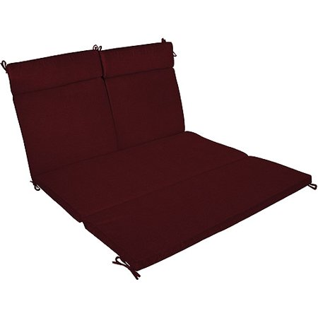 Burgundy double chaise cushion for Burgundy chaise lounge