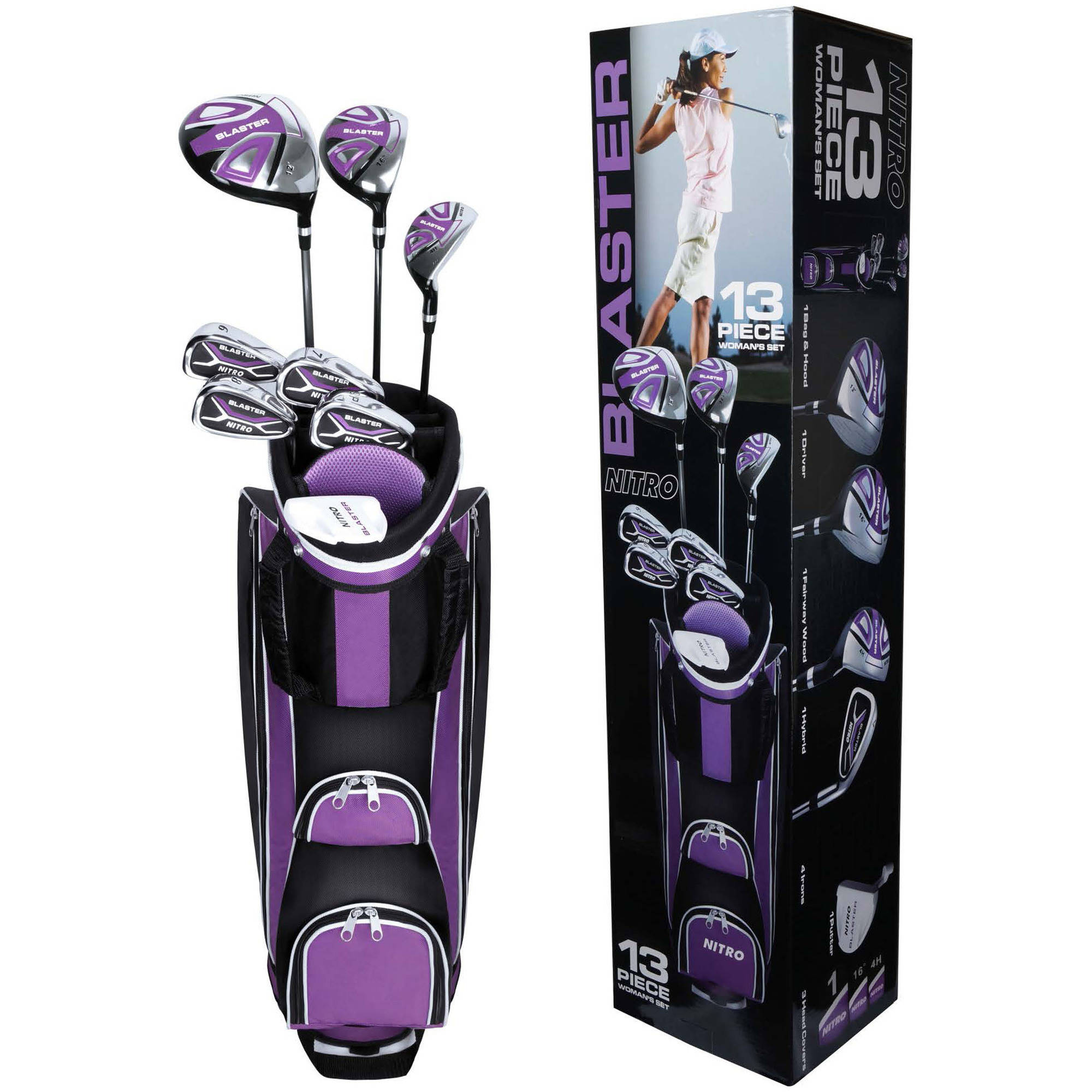Nitro Golf Set, Ladies, 13-Piece