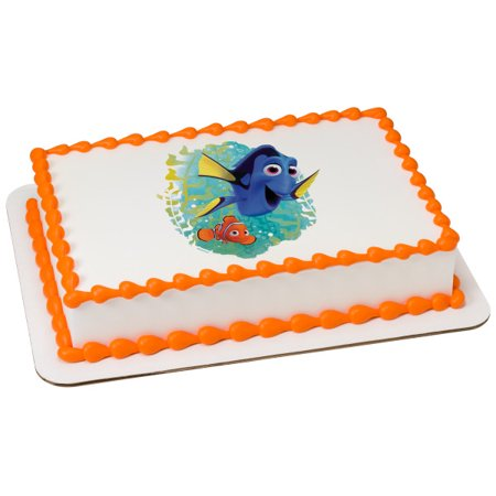 Finding Dory Ocean Here We Come 2 Round Cupcake Sheet Image Cake Topper Edible Birthday Party