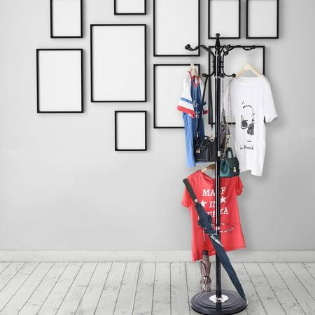 15 Hooks Hat Jacket Stand Tree Hanger Rack Silica Gel Base thumbnail