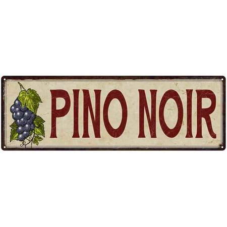 Pino Noir Wine Grapes Kitchen Vintage Wall Décor Metal Sign 6x18  206180016022