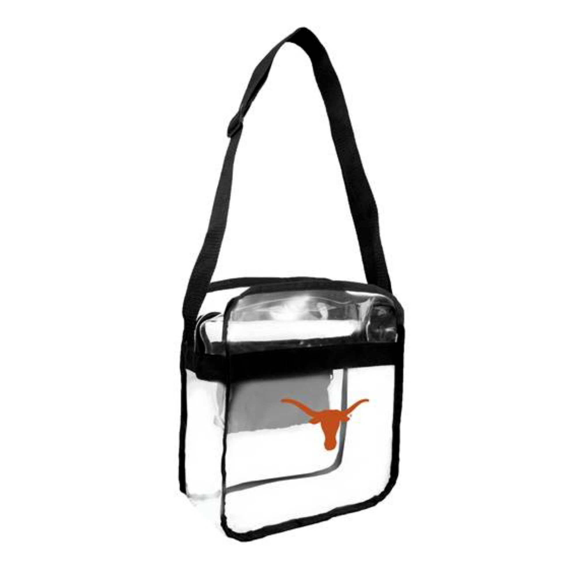 Little Earth - NCAA Clear Carryall Cross Body Bag, University of Texas Longhorns