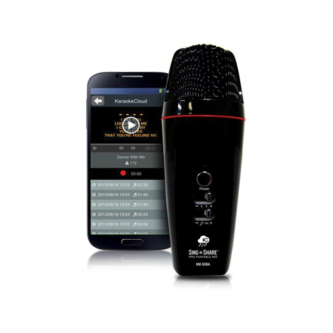 Acesonic MPSSBI Sing-N-Share Pro Portable Microphone For iOS Black by Acesonic
