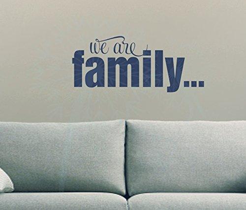 we are family quotes vinyl lettering decals wall sticker words