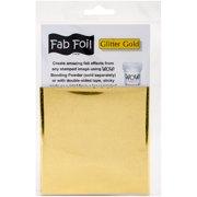 """WOW! Fab Foil 4""""X28""""-Glitter Gold"""