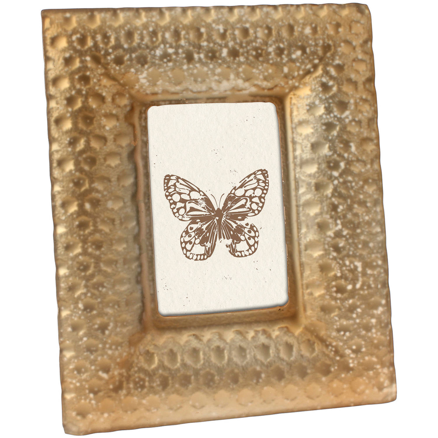 4 quot x 6 quot frosted gold glass frame walmart