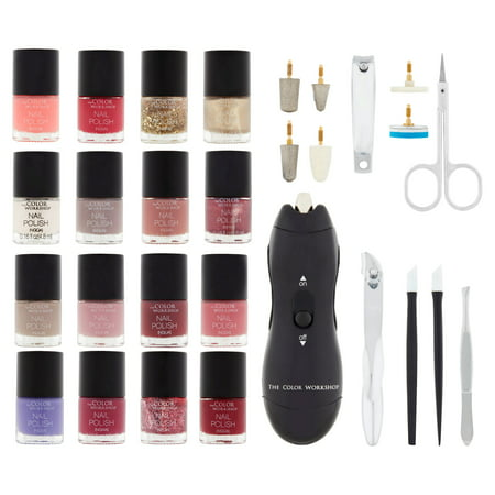 The Color Workshop Incredible Nails Collection Kit and Nail Dryer, 30 pc