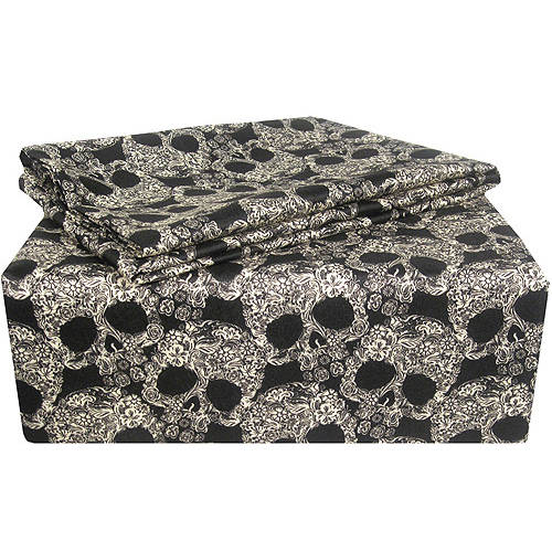 Flower Skulls Polyester Sheet Set