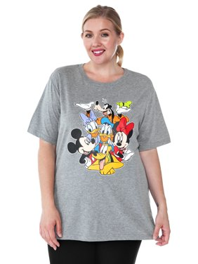 ae22ae825ee Product Image plus size mickey mouse   friends t-shirt gray minnie daisy  pluto