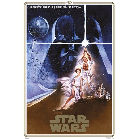 Star Wars: Episode IV - A New Hope - Movie Poster / Print (40th Anniversary Gold Border Edition - Regular Style A) (Size: 24