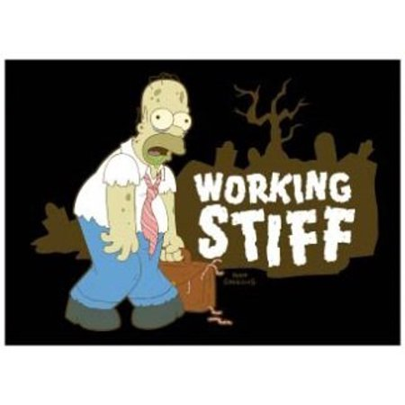 THE SIMPSONS - Working Stiff,Officially Licensed & Exclusively Trademarked Original Artworks Magnet