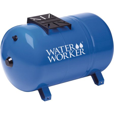 Moroso Dry Sump Tank - Water Worker HT-20HB Horizontal Pre-Charged Well Tank, 20 gal, 1 in MNPT, 100 psi, Steel