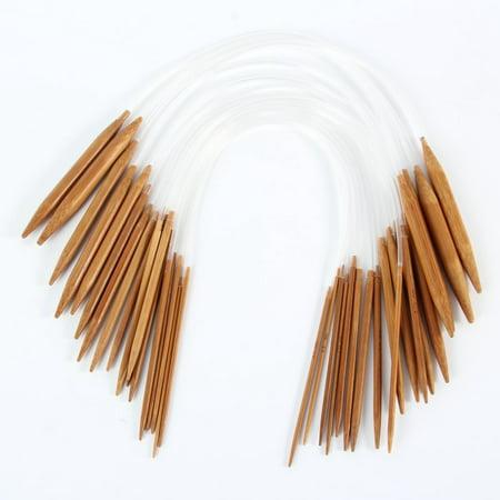 18PCS Plastic Bamboo Knitting Needles Set Circular Wooden Knitting Needles Weave (Best Bamboo Knitting Needles)
