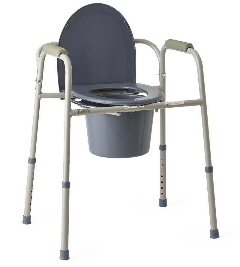 medline Steel Bedside Commode MDS89664