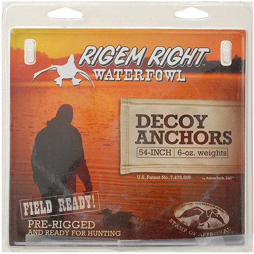 "Image of Adventech 001-54"" Rig Em' Right 54"" Extreme Decoy Line 6 oz. Anchor 12-Pack"