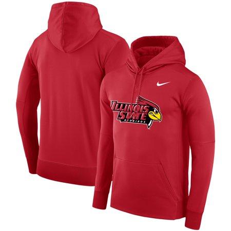 - Illinois State Redbirds Nike Logo Therma Performance Hoodie - Red