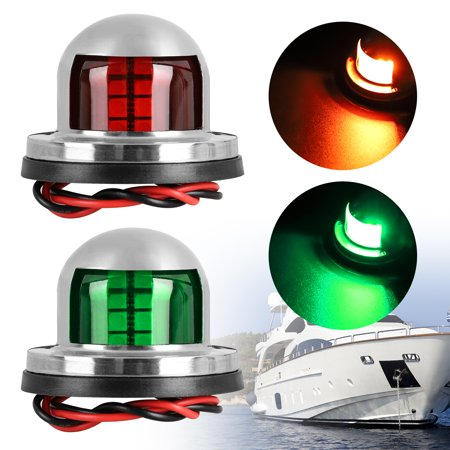 LED Navigation Lights Deck Mount, New Marine Sailing Lights for Boat, Pontoon, Yacht, Skeeter, Sailing Signal Lights, Bow Side,Port, Starboard, DC