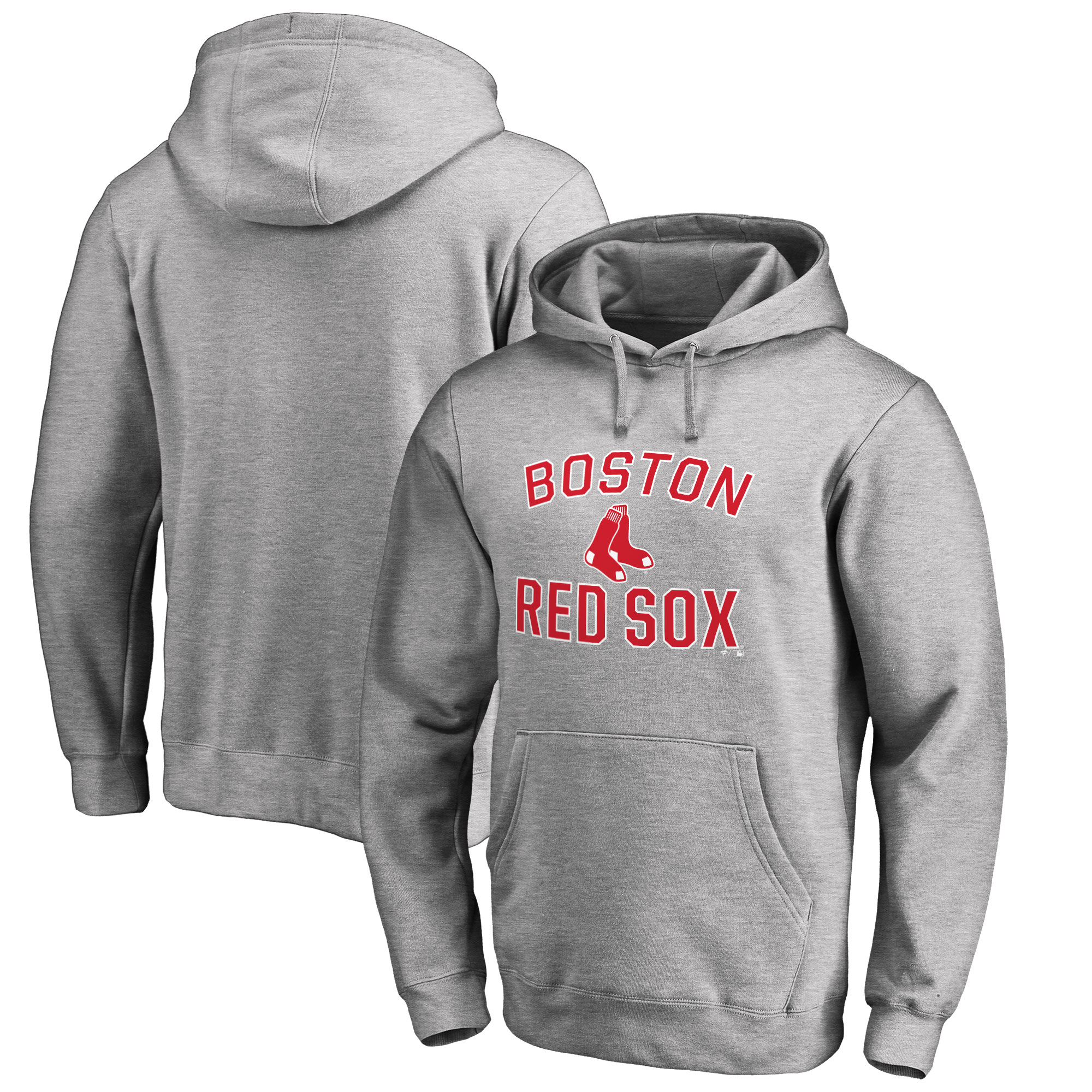 Boston Red Sox Big & Tall Victory Arch Pullover Hoodie- Ash