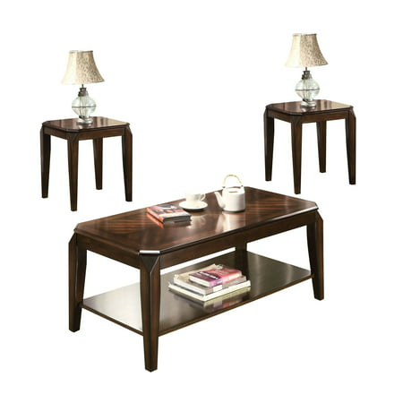ACME Docila 3-Piece Pack Coffee/End Table Set, Walnut