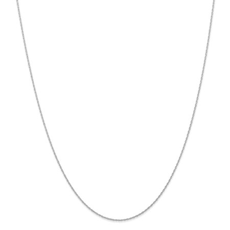 - 14kt White Gold .6 Mm Carded Cable Link Rope Chain Necklace 20 Inch Pendant Charm Fine Jewelry Ideal Gifts For Women Gift Set From Heart