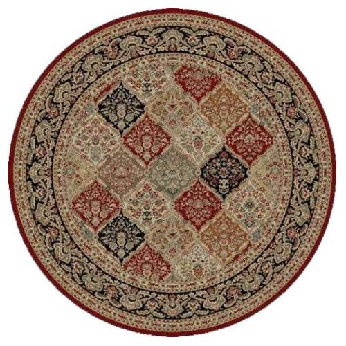 Round Area Rug In Red Walmart Com