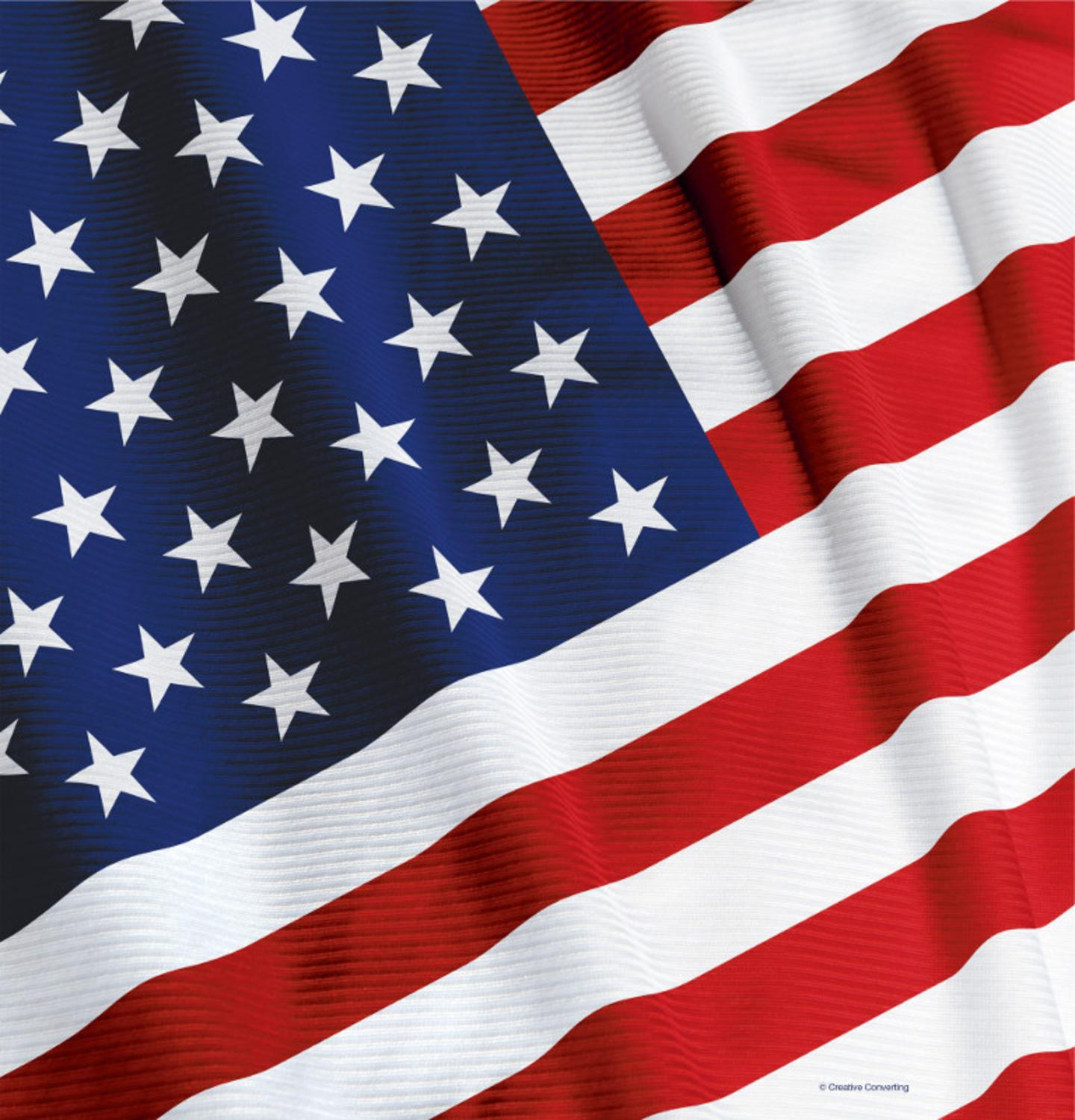 Club Pack of 12 Stars and Stripes American Valor Disposable Plastic Banquet Party Table Covers 108