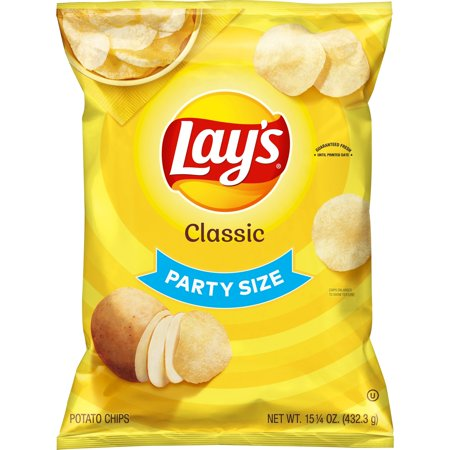 Lay's Potato Chips, Classic Flavor, 15.25 oz Bag White Classic Chip