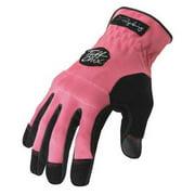 IRONCLAD TCX-24-L Large Pink Shirred Cuff Mechanics Gloves