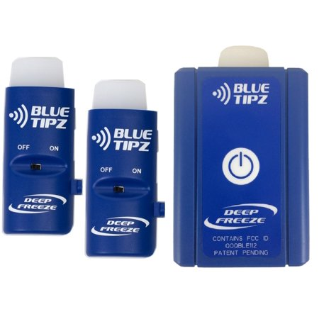 Blue Tipz Transmitter + Reciever / Booster Package Ice Fishing Tip-up Alert S...
