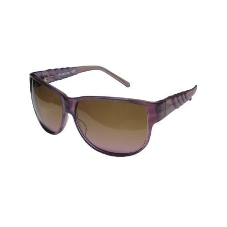 New Christian Roth 14285 Mens/Womens Designer Full-Rim Gradient Purple Hip & Chic Handmade In Japan Shades Sunnies Frame Brown / Purple Lenses 62-13-125 (Christian Designer Sunglasses)