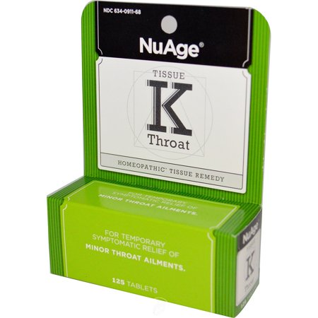 Hylands NuAge Tissue K Throat 125 Tablet, Pack of 2 ()