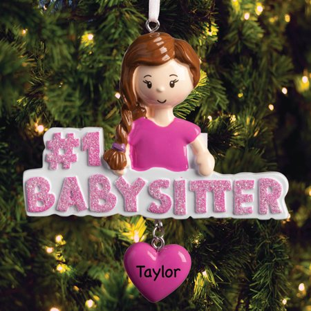 Personalized Babysitter Ornament