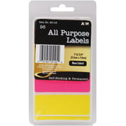"Labels-neon All-purpose 1""x2.75"" 96/pkg"