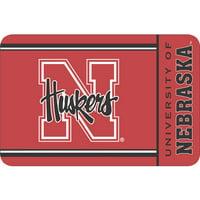 "Wincraft Polyester Nebraska Round Rug, 1'8"" x 2'6'"