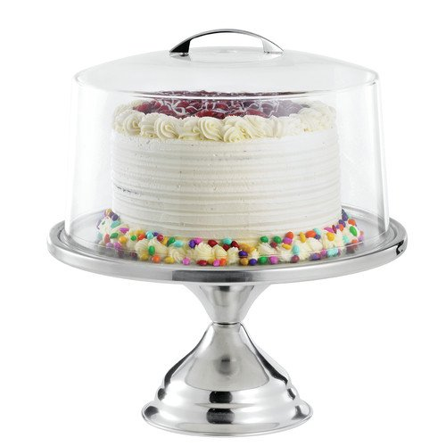 tablecraft 2 cake stand with cover set walmart - cake plate cover ...
