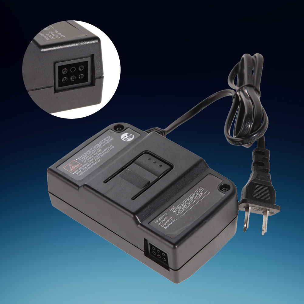 AC Adapter for Nintendo 64 - N64 Power Cord / Cable US Plug