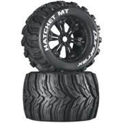 Duratrax Hatchet MT 3.8 Mounted Tyre (Set of 2), Black Multi-Colored