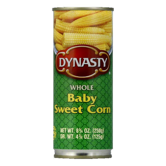 Dynasty Baby Sweet Corn Whole, 8.75 OZ (Pack of 12)