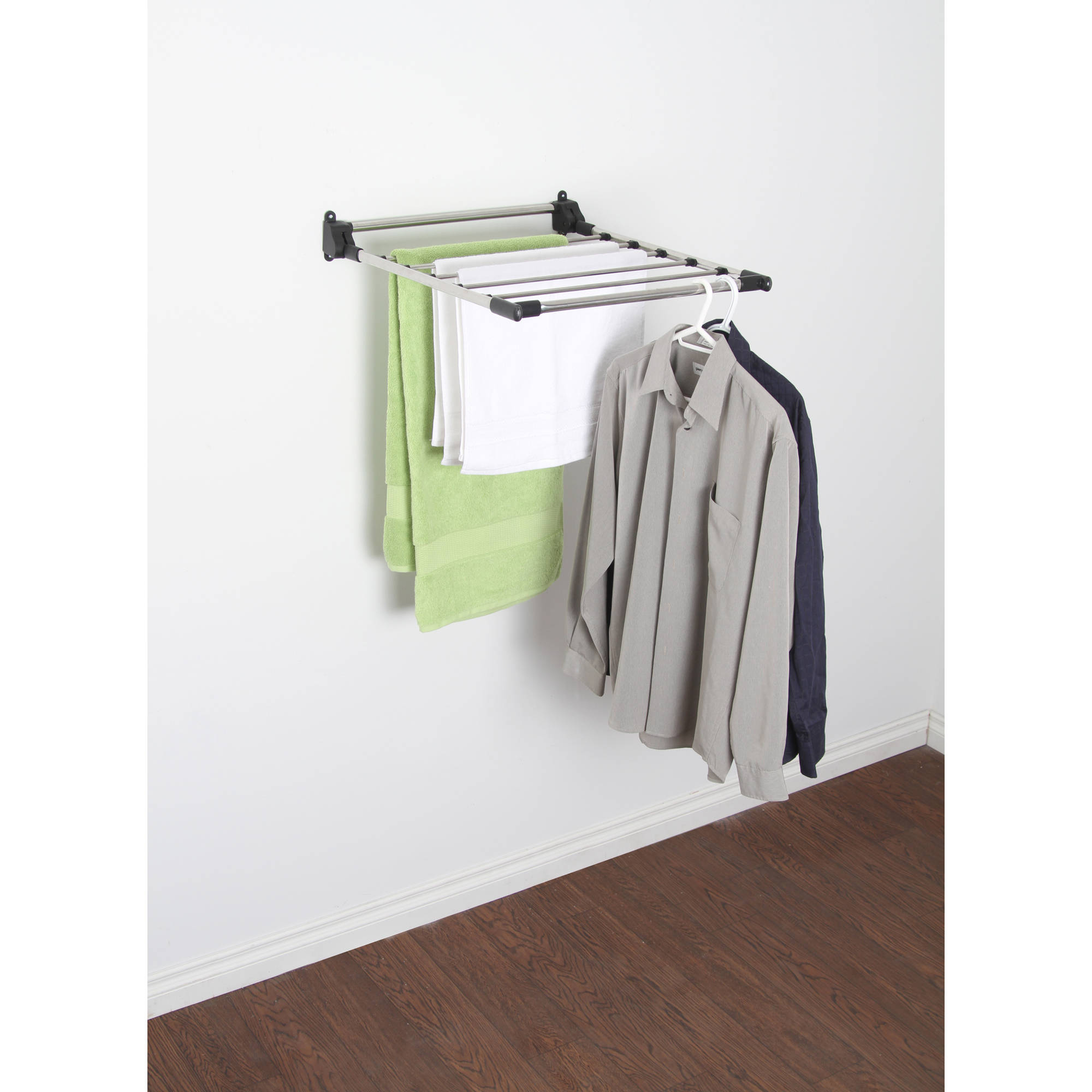 Laundry Wall Hanger Wall Drying Rack Mount Clothes Laundry Hanger Room Mounted Space